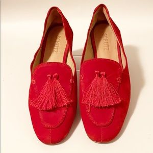Schutz | Jeaninne Red Tassel Slip-On Loafer 8